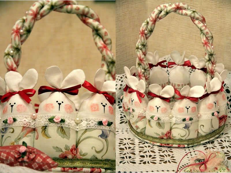 Кролики-восточный корзины-с-цветочно-ткане-жемчуг