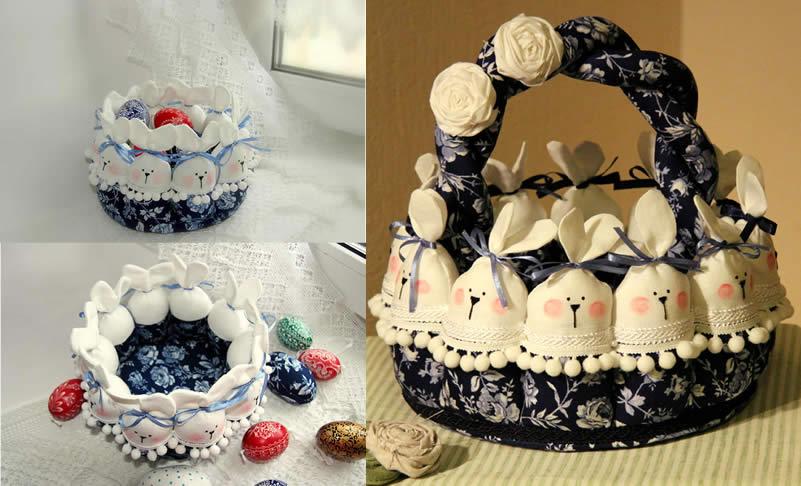 Баскет-из-кролики-ткань-сине-цветочный