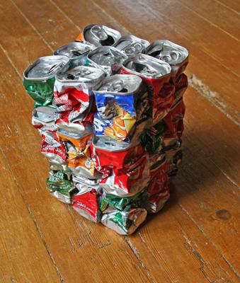l'art des canettes Cube3all