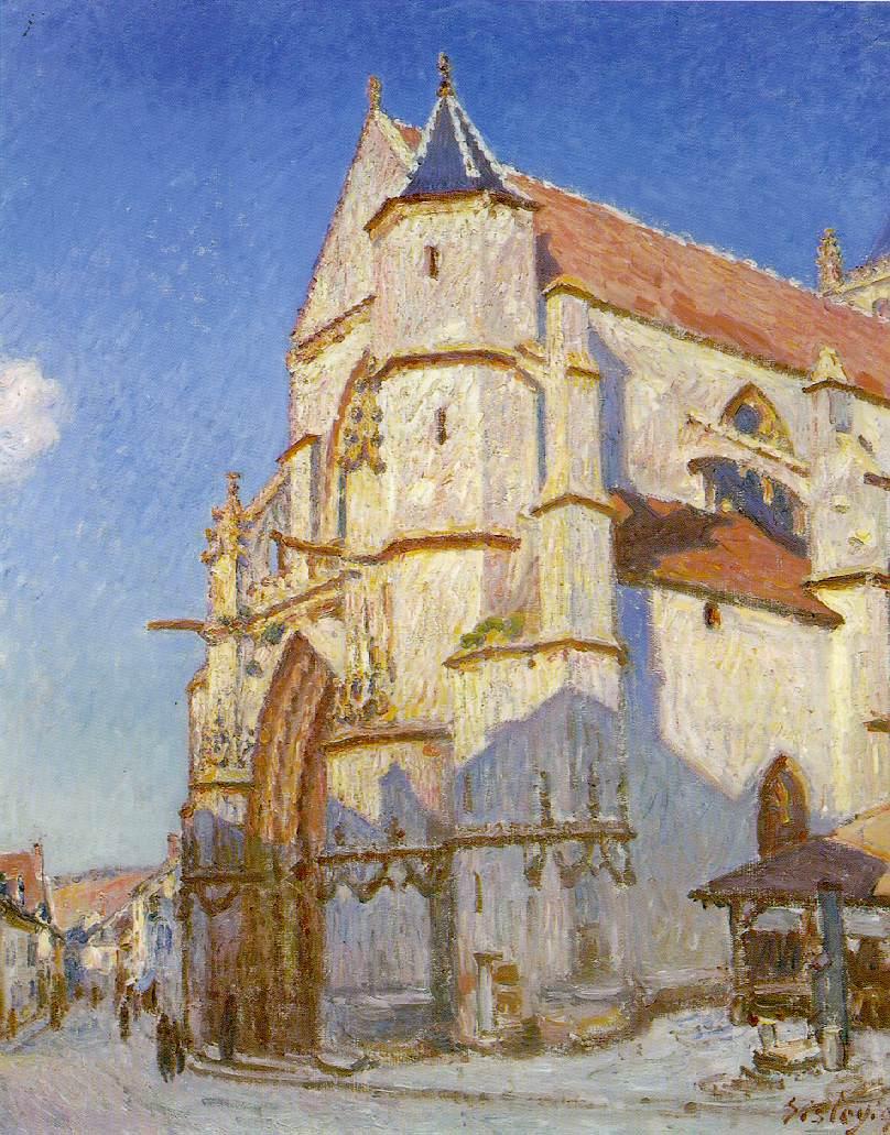 Alfred Sisley, (1839 - 1899) Sisley-church-at-moret-1894-new1