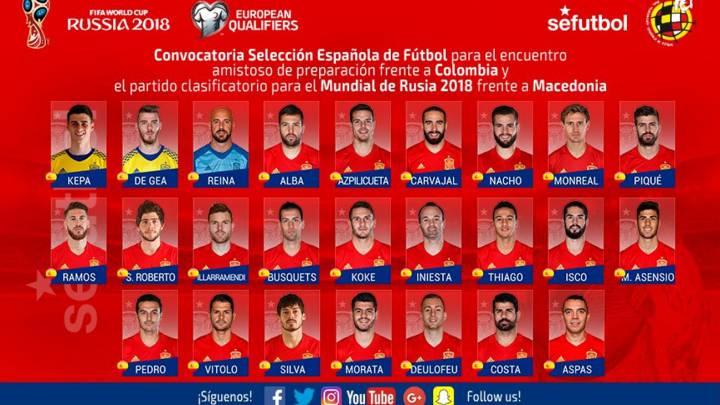 España vs Colombia y Macedonia 1495185998_229060_1495188314_portada_normal_recorte1