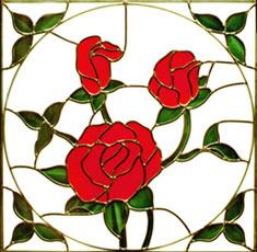 صور الرسم علي الزجاج Redroses