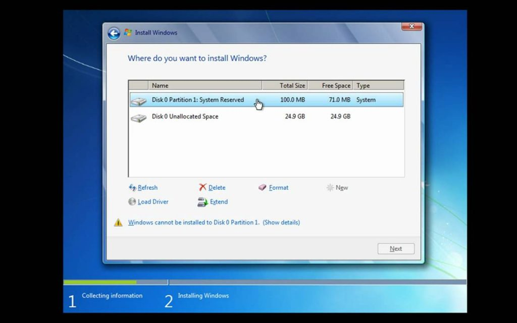 Windows 7 Professional Free Download ISO 32/64 bit Where-do-you-want-to-install-windows-7-1024x640