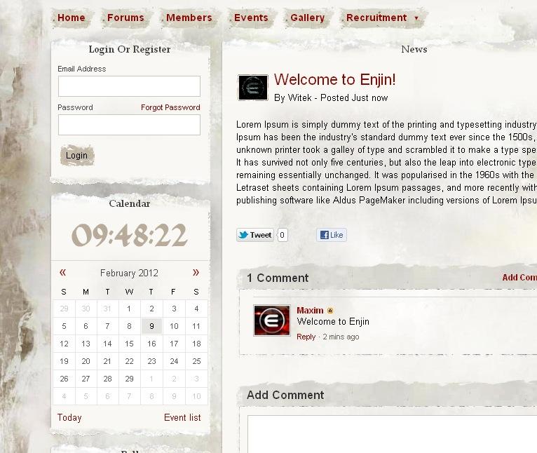 Building the new website! Full