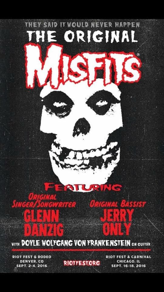 Danzig Reunites w/Misfits Misfitsoriginalriotfestbigger