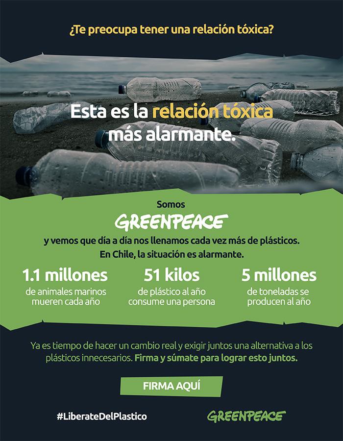 LYFtvnews en español : Greenpeace por un Chile libre de plásticos de un solo uso 6026a934a5226