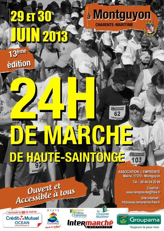 24 heures de Montguyon (17): 29-30 juin 2013 13-Affiche