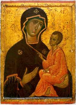 St Luc peignant la Vierge Viergehodegetriedetikhvine