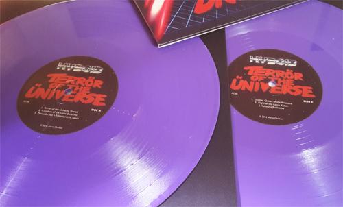 """Hyboid - Terrör of the Üniverse 2x12"""" LP + MP3 Download [ASTRO CHICKEN 06] AC06.Purple.Packshot.2a.500"""