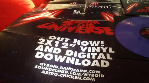 """Hyboid - Terrör of the Üniverse 2x12"""" LP + MP3 Download [ASTRO CHICKEN 06] AC06.Purple.Packshot.4a.500"""
