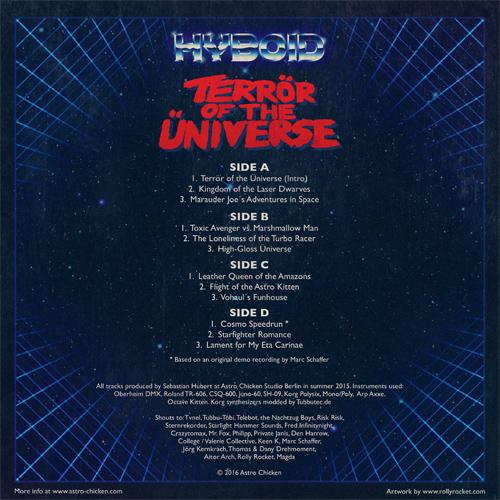 "Hyboid - Terrör of the Üniverse 2x12"" LP + MP3 Download [ASTRO CHICKEN 06] AC06_Sleeve_Back_500x500"