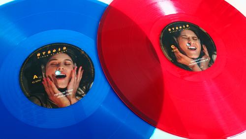 """Hyboid - Wired at Heart 2x12"""" LP / SYNTH GADGET [ASTRO CHICKEN 08] AC08_Blue_Red_Vinyl_500"""