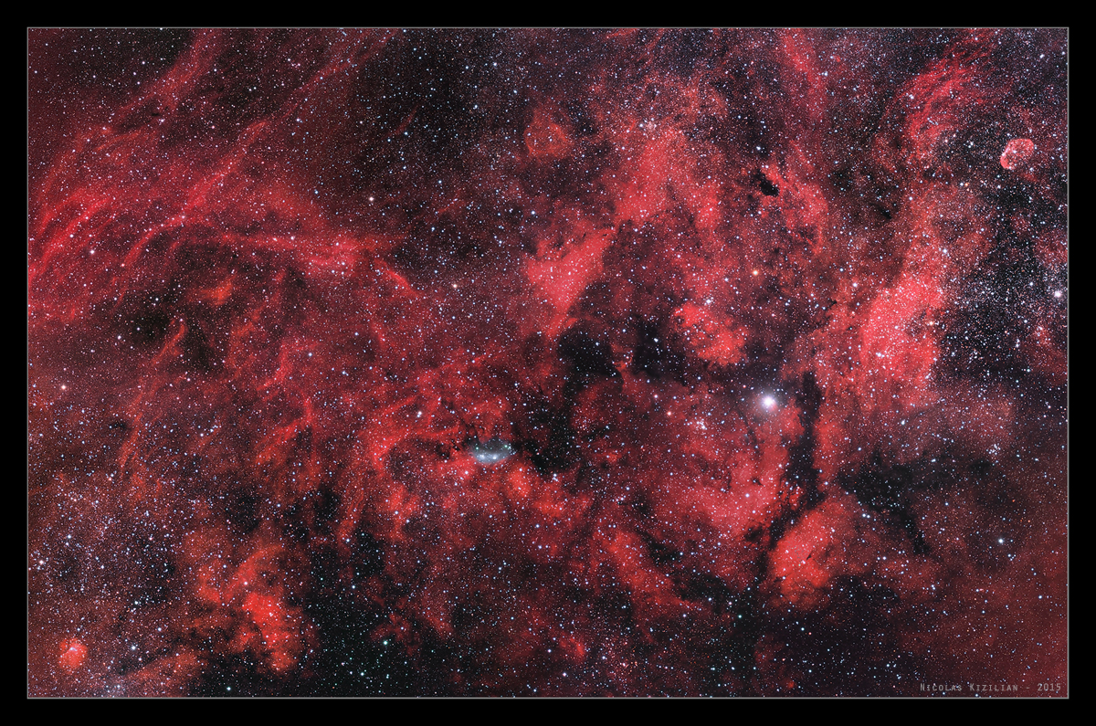 Région du Cygne, mosaïque de 8 images HaRGB MosaCygne-2015-08-09-1200-s
