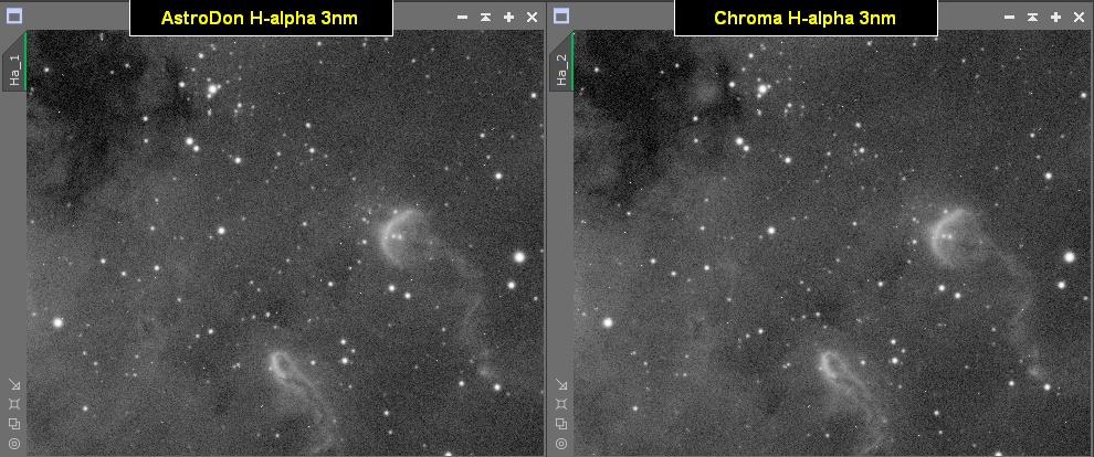 Filtres Narrowband 3nm (Astrodon vs Chroma) HA
