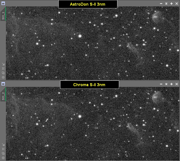 Filtres Narrowband 3nm (Astrodon vs Chroma) SII