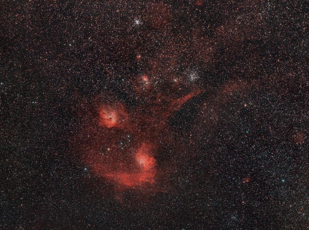 Nébuleuses au A7s défiltré au 200mm f/2.8 Ic410_A7s_1Mp