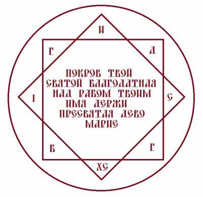 "ОБЕРЕГ "" ЩИТ ЗВЕЗДЫ БОГОРОДИЦЫ ""  S01767224"