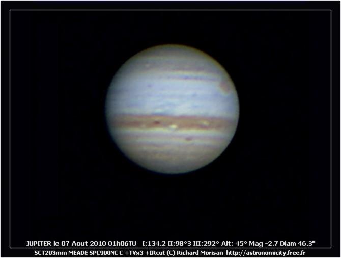 Jupiter ce matin Crbst_J20100807_010600_RMO