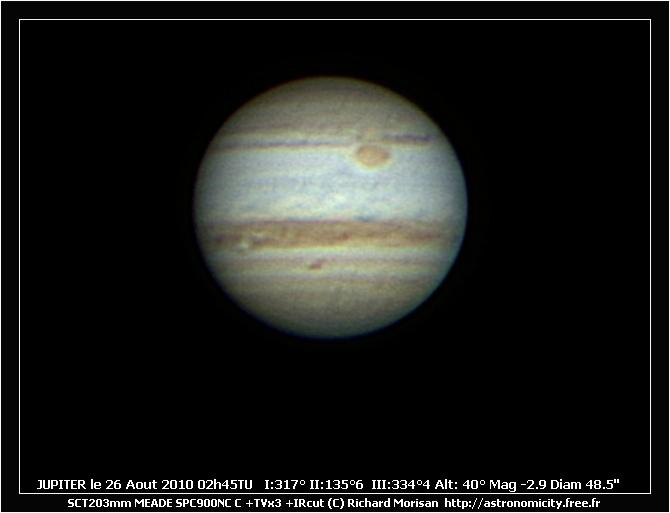 Jupiter le 26  Crbst_J20100826_02H4521TU_Rmo