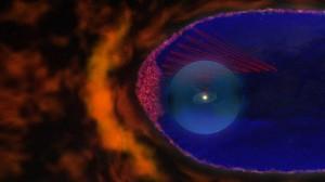 Nasa detecta vento solar de fora do sistema solar Art_espuma_magnetica_fronteira_Sistema_Solar-300x168