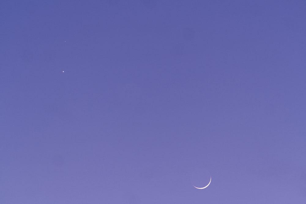 Rapprochement Lune, Venus et Mars du 20/02 150220-18h25-Lune-Menus-Mars
