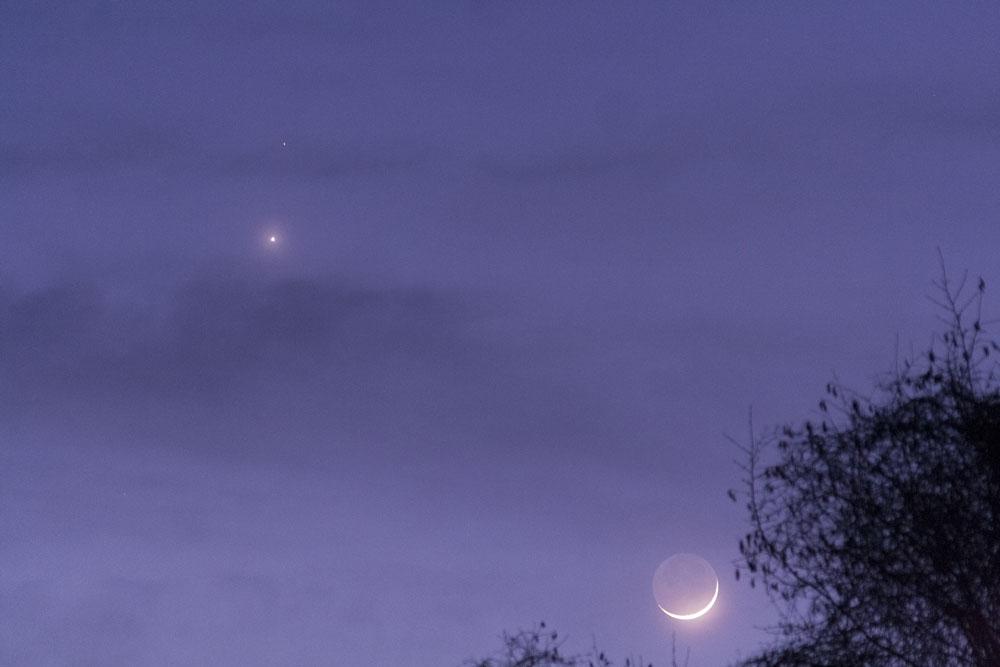 Rapprochement Lune, Venus et Mars du 20/02 150220-18h35-Lune-Menus-Mars