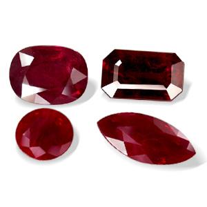 الحجر الكريم ذو الصبغة الحمراء Ruby