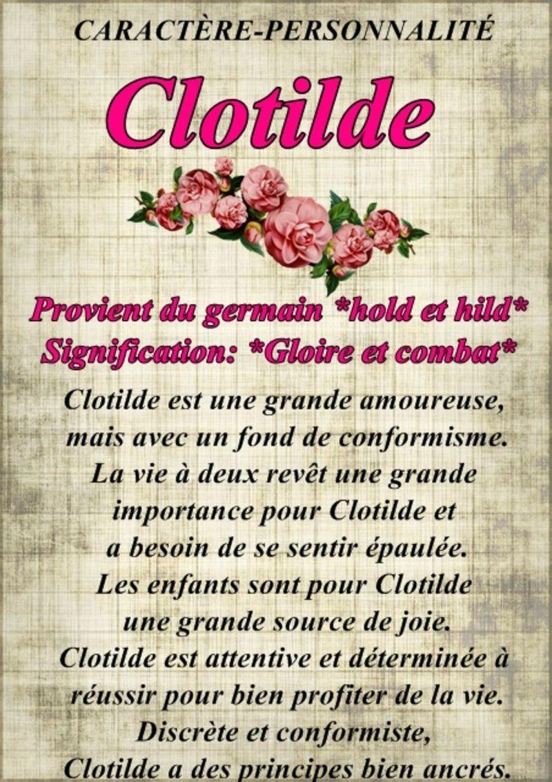 """"""" Prénom à Féter et Ephémérides du Jour """" - Page 25 Steclotilde"""