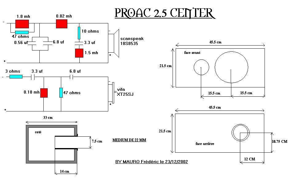 Electronica para 802 nautilus - Página 2 Proac2.5center