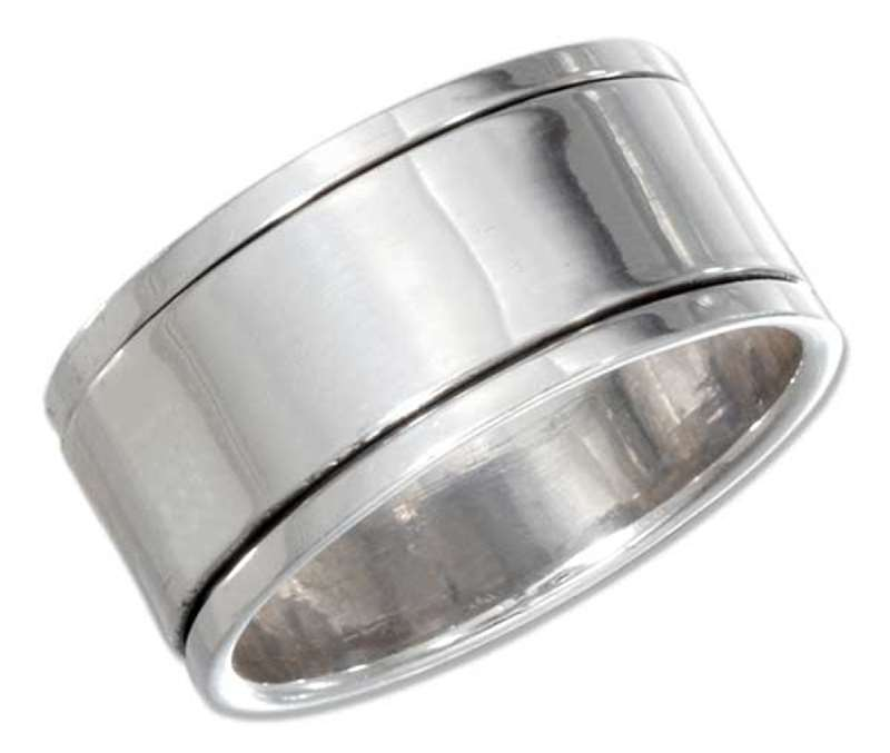 Aaron Hartmen alch. -done- Sterling-Silver-Mens-Plain-Spinner-Band-sr-bibh-cfaw
