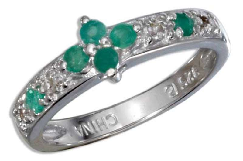 Katalog ponudb(naročate na blagajni) Sterling-Silver-Rhodium-Plated-Genuine-Emerald-Diamond-Accent-Rose-Cut-Ring-sr-cbgh-cfaw