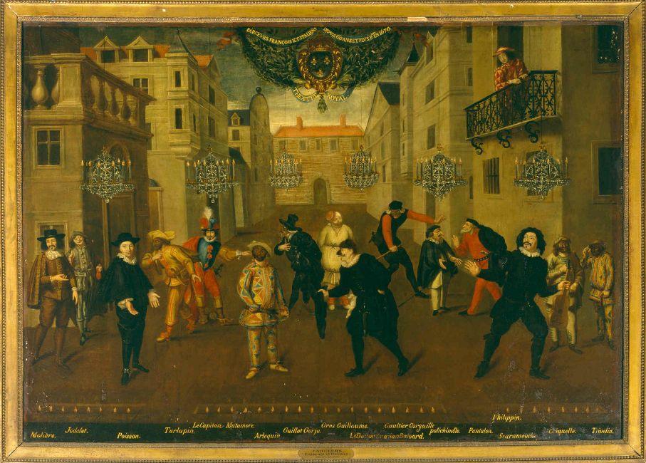 Exposition fêtes et divertissements à Versailles (2016-2017) Anonyme-les-farceurs-franc3a7ais-et-italiens-depuis-60-ans-et-plus-peints-en-1670