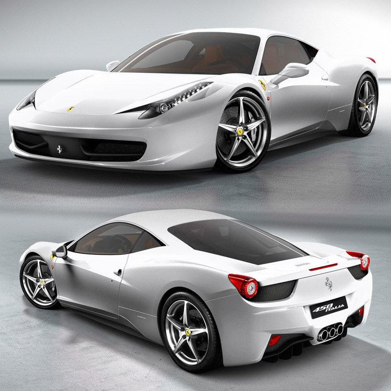 السيارات Ferrari Ferrari-458-italia-de-couleur-blanche-o-2405