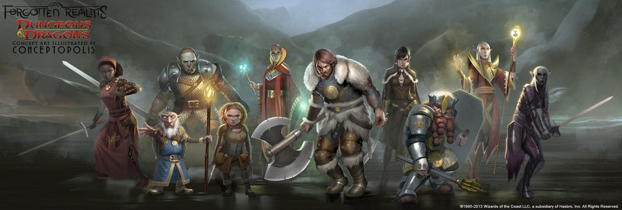 Backgrounds: Postem os BG´s de seus personagens aqui! Forgotten_realms__characters_by_conceptopolis-d5rs6xc