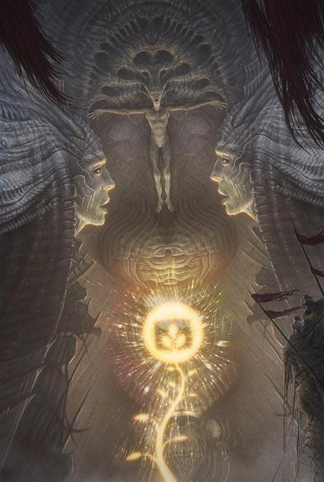 Генетические эксперименты темных сущностей-хищников превратили человечество в существ с ограниченными способностями Darkgods