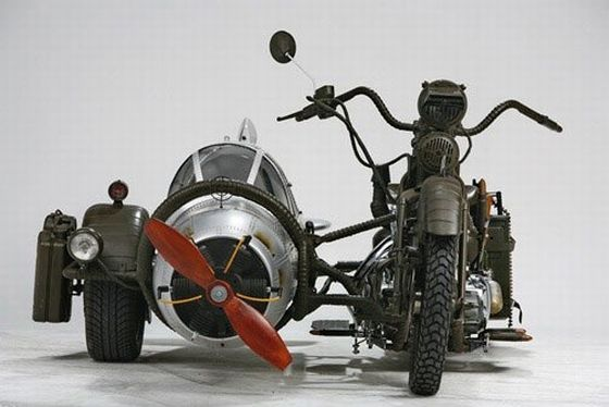 Photos étonnantes... Ww2-fighter-plane-sidecar-2