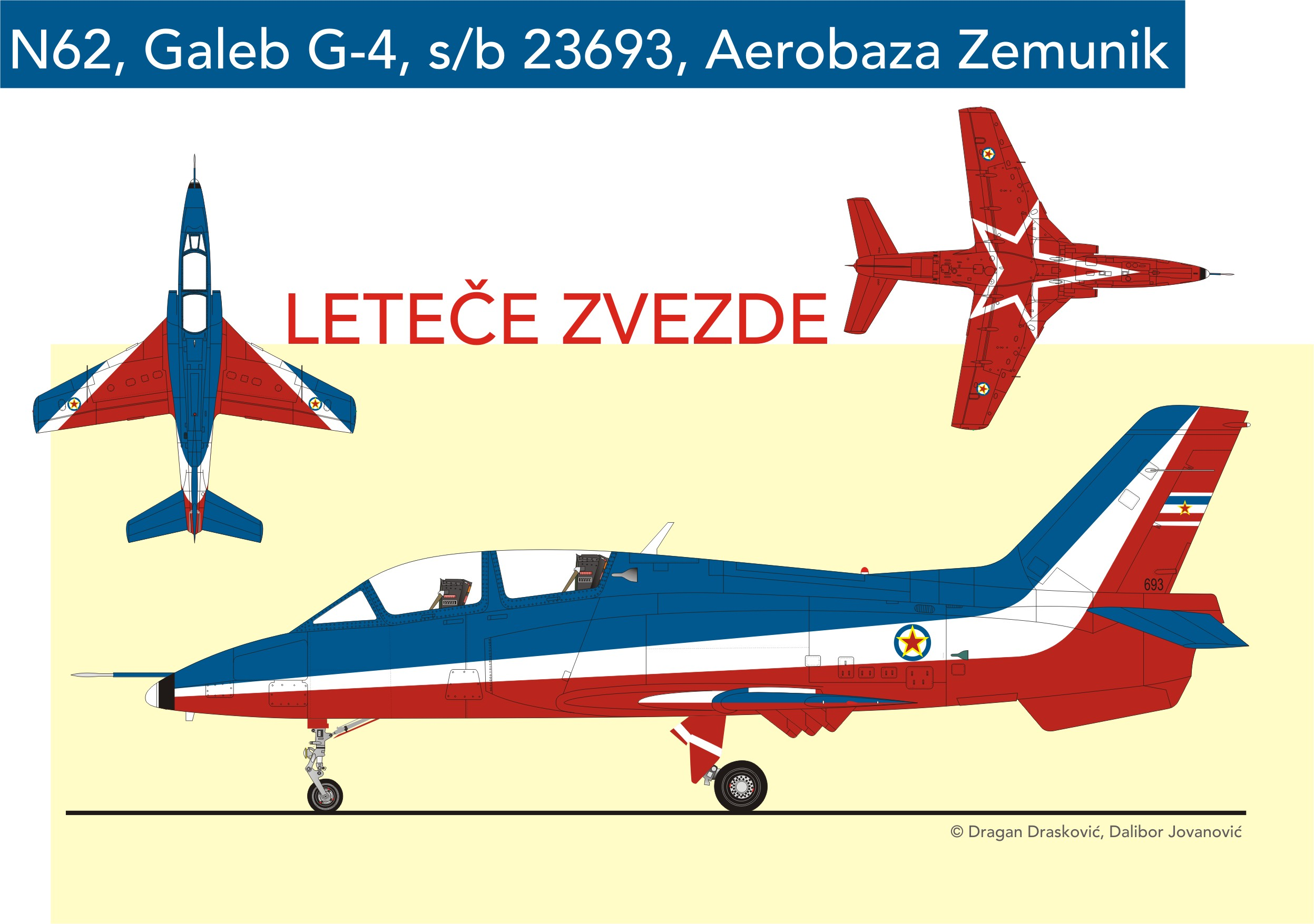 N-62 Soko G-4 Super Galeb 693