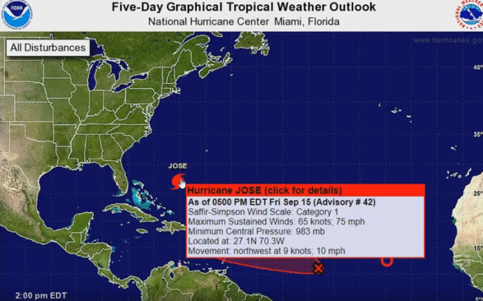 NEW - Hurricane JOSE Track shifts - Forecasted to grow Exponentially! plus MORE 2017-09-15_16-44-14-696x434