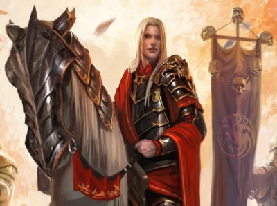 Livre du Monde [Culture et civilisation] 400px-Aegon_Targaryen_Diego_Gisbert_LlorensIIII