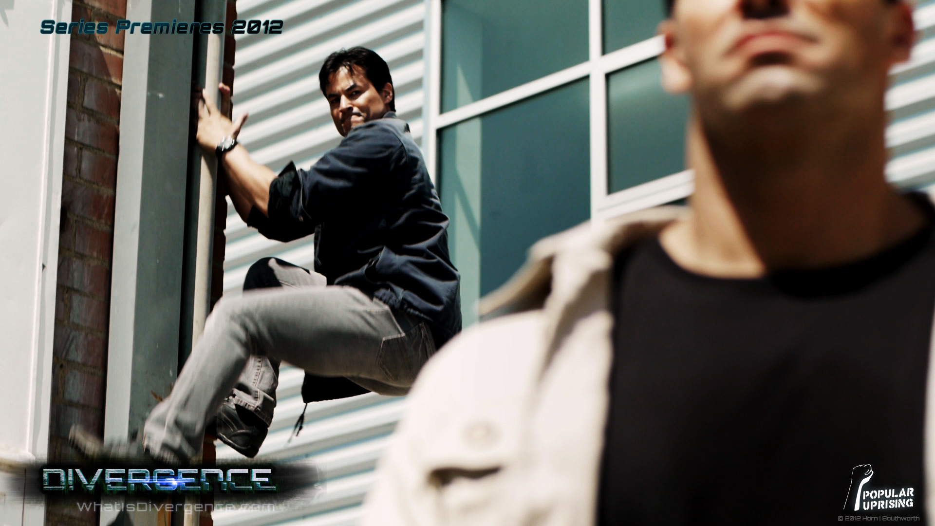 مؤدي صوت فيرجل ( Dan Southworth ) يعمل على سلسلة Divergence DIVERGENCE_Still_DanSouthworth02