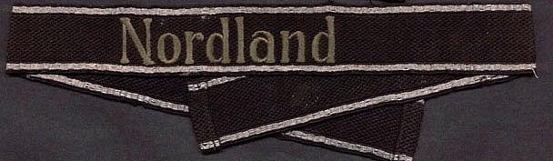 La 11 division SS Nordland . NordlandCuffTitle01