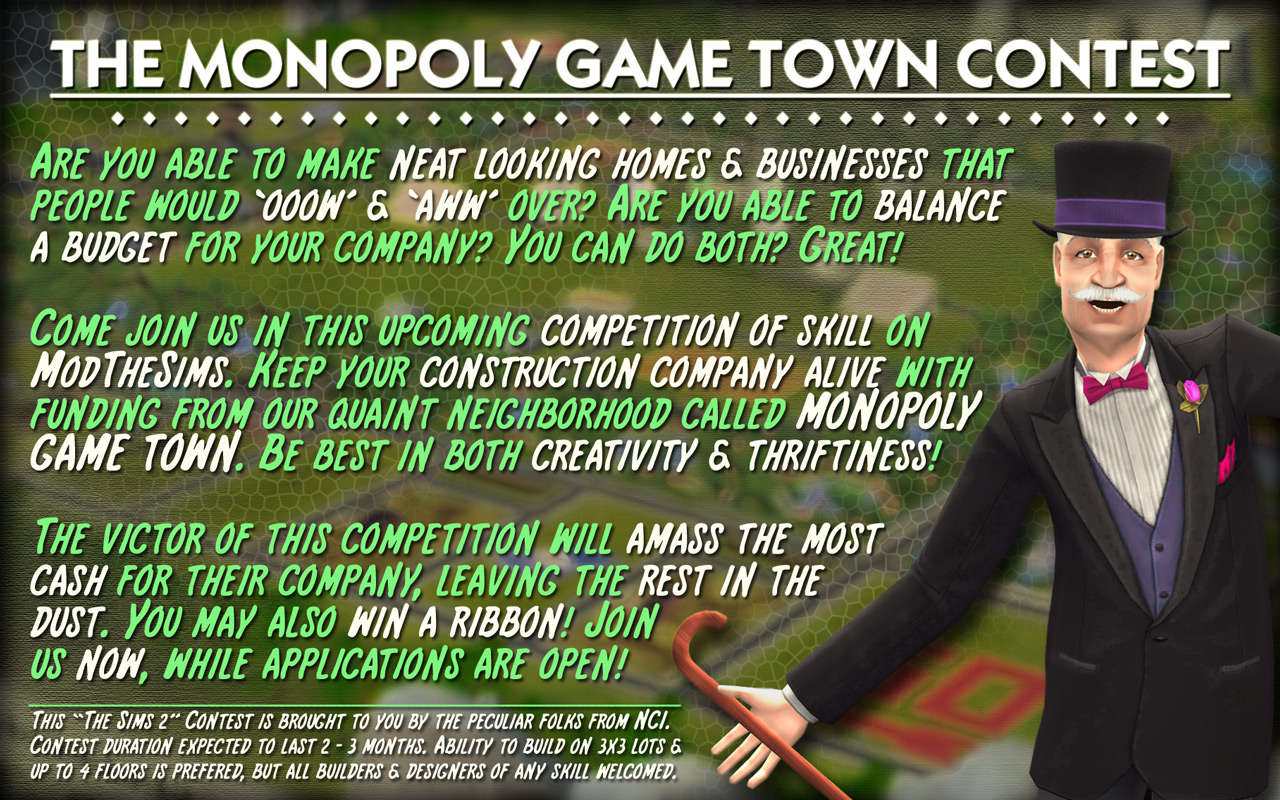 """The Monopoly Game Town"" Building Contest of 2016 TMTC2016AD011280"