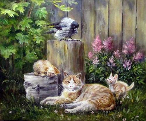 Кошки в живописи E77e2793a5c2