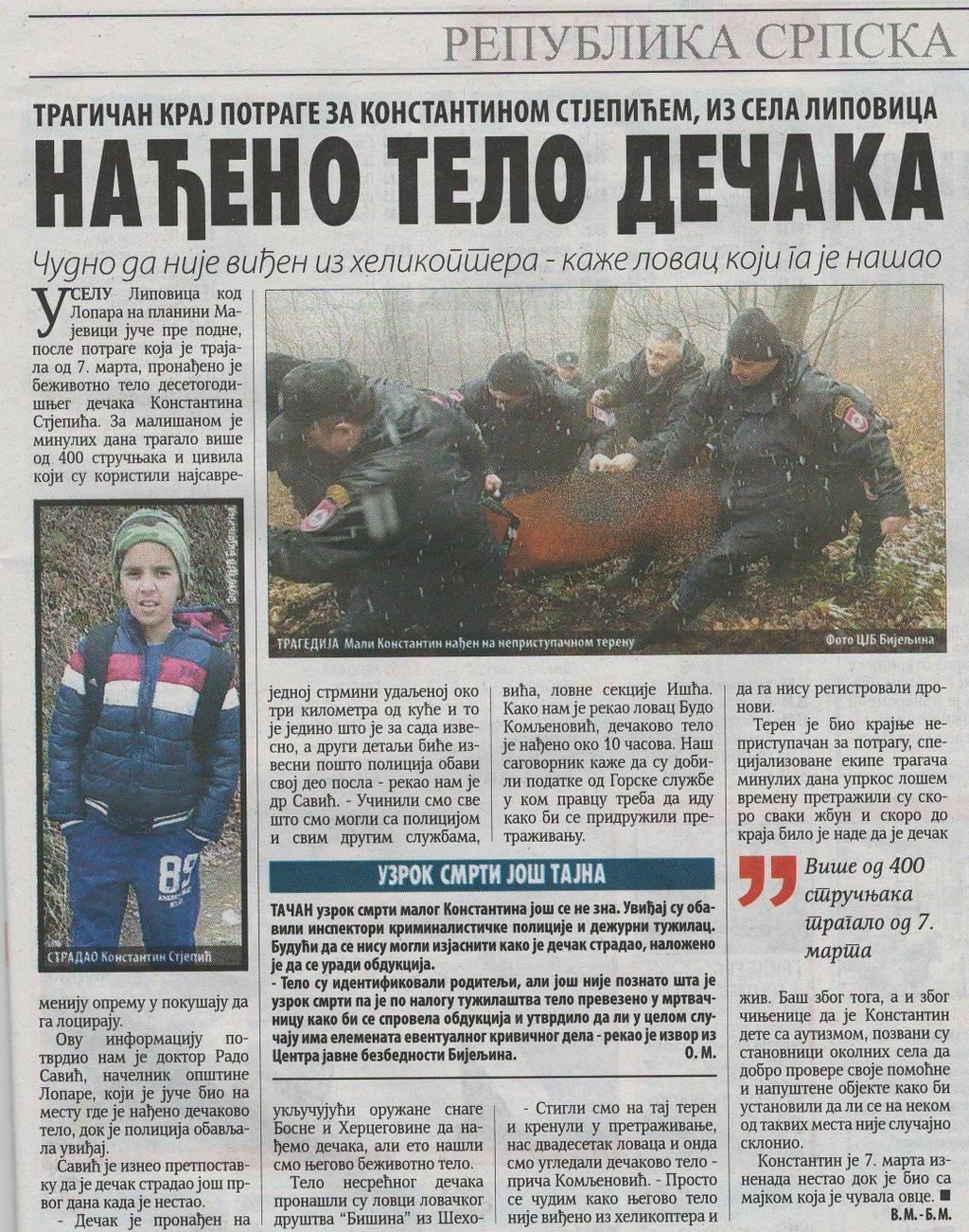 Pronadjeno tijelo nestalog djecaka na Majevici Imgsrc.ru_53256434PlX