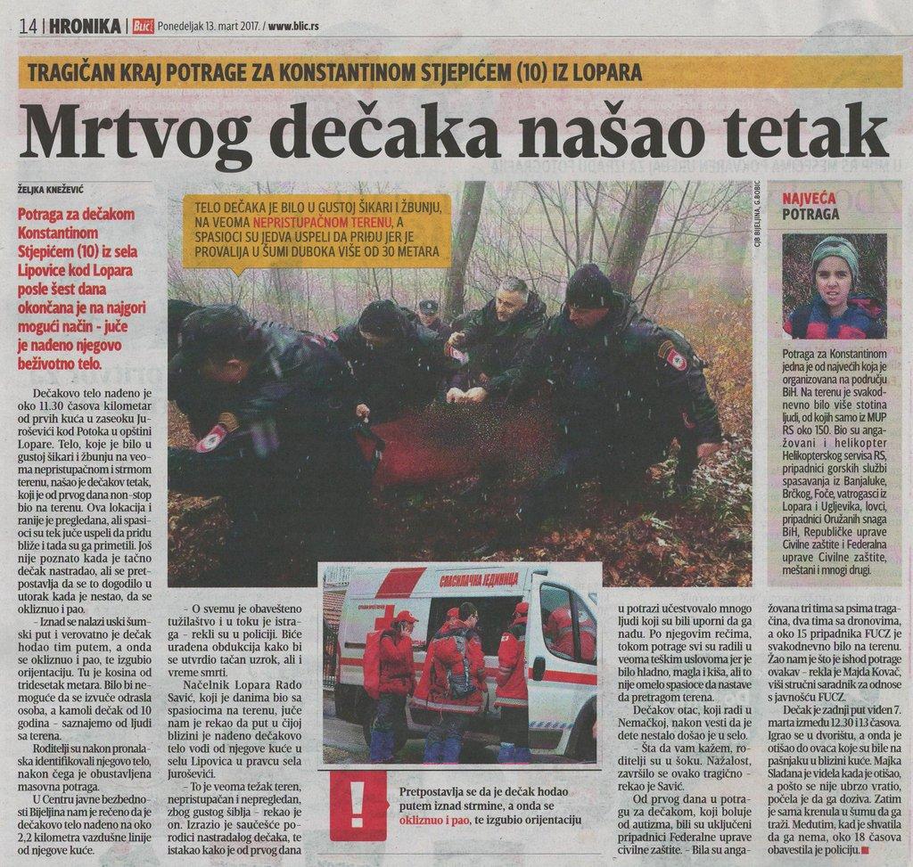 Pronadjeno tijelo nestalog djecaka na Majevici Imgsrc.ru_53256498EpG