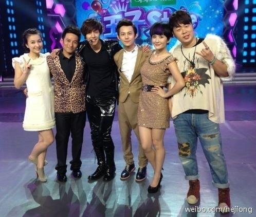 Kim Hyun Joong فى برنامج Happy Camp 20121029-153023