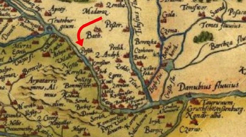Stare geografske mape i karte - Page 7 Mapa-Backa-Palanka-1570.-n