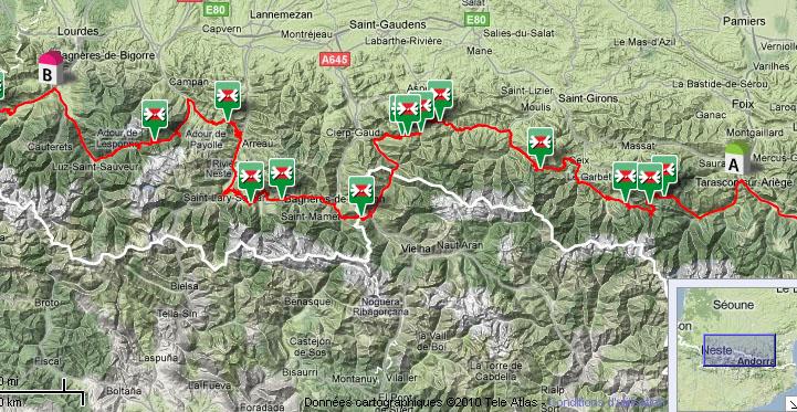 La route des 34 cols Pyréneens en Aout 2010 Carte_tarascon_bagneres