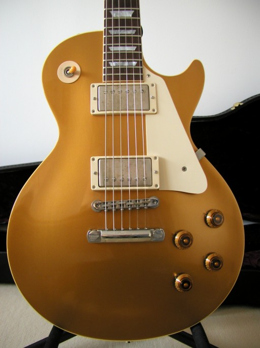 Gibson Les Paul Goldtop Reissue 57 Custom Authentic LP_face_corps