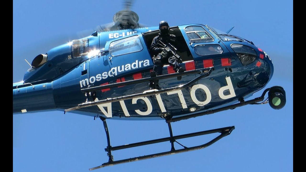 Manifestació contra la política repressiva, unionista i anti-social del Govern Mas. Mossos-helicopter
